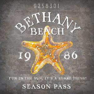 Bthany Beach Tag Wood Art 12x12