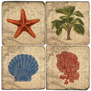 Coastal Coasters (Set Of 4)