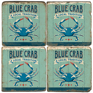 Blue Crab Coasters (Set Of 4)