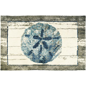 Driftwood Sand Dollar Rug, 22 x 34 in.