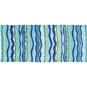 Wavey Stripes Rug, 26 x 60 in.
