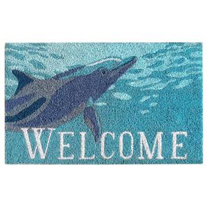 "Liora Manne Natura Dolphin Indoor/Outdoor Mat  18""X30"""