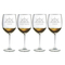 Busy Seagulls Etched Stemless 21oz Wine Glass Set