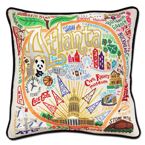 Atlanta Hand-Embroidered Pillow