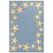 "Starfish Border Indoor/Outdoor Rug Blue Water  42"" X 66"""
