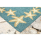 "Starfish Border Indoor/Outdoor Rug Aqua 24"" X 36"""