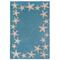 """Starfish Border Indoor/Outdoor Rug Aqua 42"""" X 66"""""""