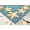 """Starfish Border Indoor/Outdoor Rug Aqua 24"""" X 8'"""