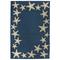 """Starfish Border Indoor/Outdoor Rug Denim 42"""" X 66"""""""