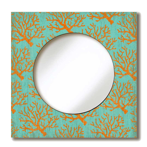 Coral Lace Wall Mirror
