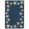 Starfish Border Indoor/Outdoor Rug Denim 5' X 7'6""