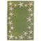 """Starfish Border Indoor/Outdoor Rug Green 42"""" X 66"""""""