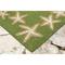 """Starfish Border Indoor/Outdoor Rug Green 24""""x 8'"""