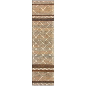 "Liora Manne Artista Diamond Stripe Indoor/Outdoor Rug Sisal 24""X8'"