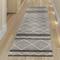 """Liora Manne Artista Diamond Stripe Indoor/Outdoor Rug Grey 24""""X8'"""