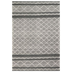 "Liora Manne Artista Diamond Stripe Indoor/Outdoor Rug Grey 42""X66"""