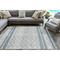 """Liora Manne Artista Diamond Stripe Indoor/Outdoor Rug Denim 5'X7'6"""""""