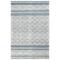 """Liora Manne Artista Diamond Stripe Indoor/Outdoor Rug Denim 7'6""""X9'6"""""""