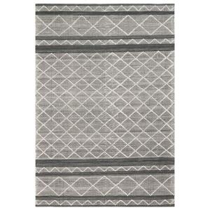 """Liora Manne Artista Diamond Stripe Indoor/Outdoor Rug Grey 7'6""""X9'6"""""""