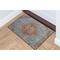 "Liora Manne Beaux Circle Medallion Indoor Rug Aqua 24""X35"""
