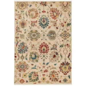 "Liora Manne Calais Vintage Floral Indoor Rug Beige 4'11""X7'5"""
