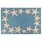 """Liora Manne Capri Starfish Border Indoor/Outdoor Rug Aqua 20""""X30"""""""