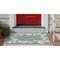 "Liora Manne Capri Seashell Border Indoor/Outdoor Rug Aqua 20""X30"""