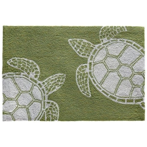 """Liora Manne Capri Turtle Indoor/Outdoor Rug Greenery 24""""X36"""""""