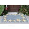 "Liora Manne Capri Starfish Border Indoor/Outdoor Rug Bluewater 24""X36"""