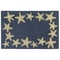 "Liora Manne Capri Starfish Border Indoor/Outdoor Rug Denim 24""X36"""