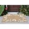 "Liora Manne Capri Seashell Border Indoor/Outdoor Rug Natural 24""X36"""