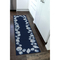 "Liora Manne Capri Seashell Border Indoor/Outdoor Rug Navy 24""X60"""
