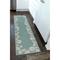 "Liora Manne Capri Seashell Border Indoor/Outdoor Rug Aqua 24""X8'"