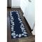 """Liora Manne Capri Seashell Border Indoor/Outdoor Rug Navy 24""""X8'"""