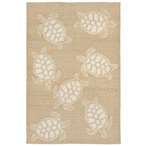 "Liora Manne Capri Turtle Indoor/Outdoor Rug Neutral 42""X66"""