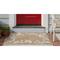 "Liora Manne Capri Seashell Border Indoor/Outdoor Rug Natural 42""X66"""