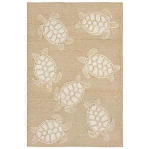 "Liora Manne Capri Turtle Indoor/Outdoor Rug Neutral 5'X7'6"""
