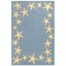 "Liora Manne Capri Starfish Border Indoor/Outdoor Rug Bluewater 5'X7'6"""