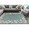 "Liora Manne Capri Seashell Border Indoor/Outdoor Rug Aqua 5'X7'6"""