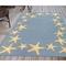 "Liora Manne Capri Starfish Border Indoor/Outdoor Rug Bluewater 7'6""X9'6"""