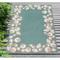"Liora Manne Capri Seashell Border Indoor/Outdoor Rug Aqua 7'6""X9'6"""