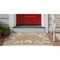 "Liora Manne Capri Seashell Border Indoor/Outdoor Rug Natural 7'6""X9'6"""