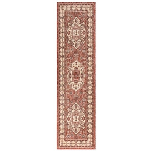 "Liora Manne Carmel Kilim Indoor/Outdoor Rug Red 23""X7'6"""