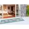 """Liora Manne Carmel Seaturtles Indoor/Outdoor Rug Aqua 23""""X7'6"""""""