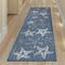 """Liora Manne Carmel Starfish Indoor/Outdoor Rug Navy 23""""X7'6"""""""
