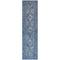 """Liora Manne Carmel Vintage Floral Indoor/Outdoor Rug Navy 23""""X7'6"""""""