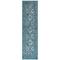 """Liora Manne Carmel Vintage Floral Indoor/Outdoor Rug Teal 23""""X7'6"""""""