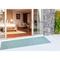 """Liora Manne Carmel Texture Stripe Indoor/Outdoor Rug Aqua 23""""X7'6"""""""