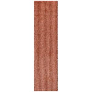 """Liora Manne Carmel Texture Stripe Indoor/Outdoor Rug Red 23""""X7'6"""""""