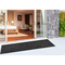 """Liora Manne Carmel Texture Stripe Indoor/Outdoor Rug Black 23""""X7'6"""""""